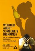 UK106 Worried About Someone's Drinking?  A4 Poster